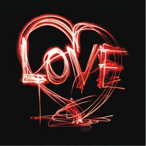 Red Neon Love Custom Made Picture Frame