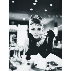 Audrey Hepburn With Cigarette Custom Made Picture Frame