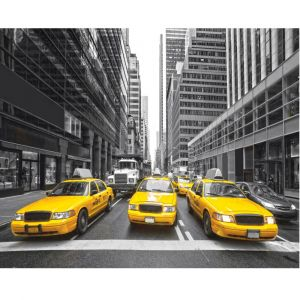 New York Taxis Custom Made Picture Frame