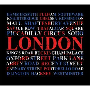 London Places In Flag Custom Made Picture Frame