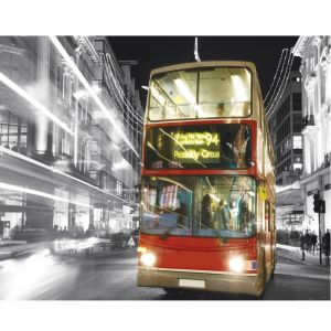 London Bus In Snow Custom Made Picture Frame