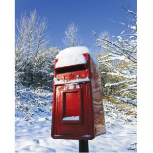 Red Letterbox In Snow Custom Made Picture Frame