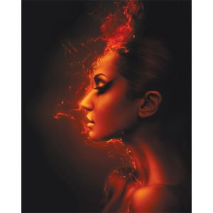 Flaming Lady Custom Made Picture Frame