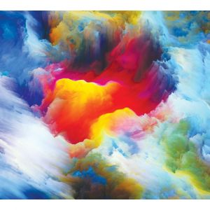 Colourful Cloud Custom Made Picture Frame