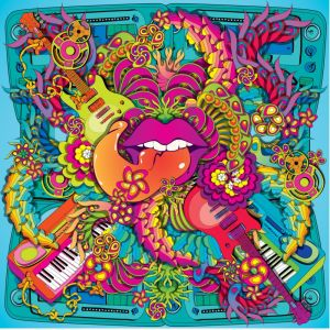 Psychedelic Tongue Custom Made Picture Frame