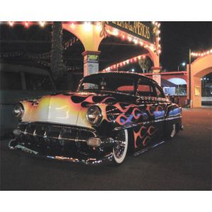 Fiery Hot Rod Custom Made Picture Frame