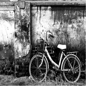 Black And White Bicycle Custom Made Picture Frame