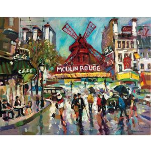 Moulin Rouge Painting Custom Made Picture Frame