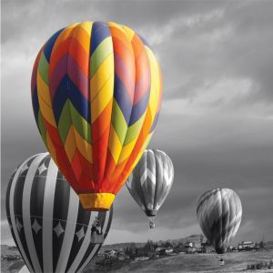 Balloon In Colour On Bw Custom Made Picture Frame