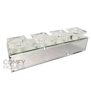 Plain Mirrored Candle Holder