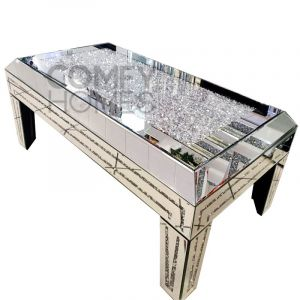 Crushed Crystal Angled Top Coffee Table (Milano)
