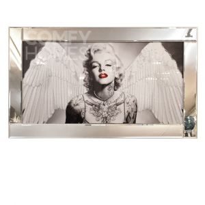 Marilyn Monroe With Wings Mirrored Picture Frame