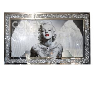 Crushed Crystal Marilyn Monroe With Wings Picture Frame (Milano)