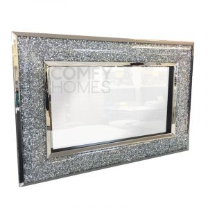 Crushed Crystal Curved 130 x 90cm Wall Mirror (Milano)