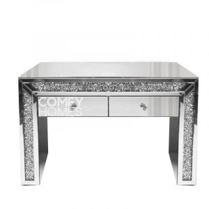 Crushed Crystal 2 Drawer Dressing Table (Milano) - Pre Order