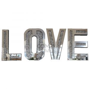 Mirrored Crushed Crystal Love Letters (Milano)