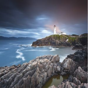 Ireland Lighthouse Custom Made Picture Frame