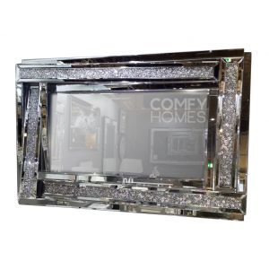 Crushed Crystal 120 X 80Cm 3D Wall Mirror (Milano)