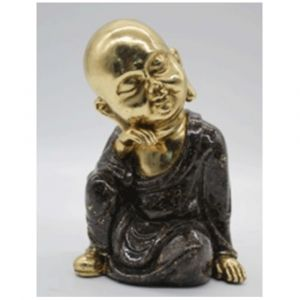 Monk Sitting Relaxed Ornament