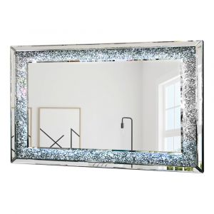 Crushed Crystal LED 120 x 80cm Wall Mirror (Milano)