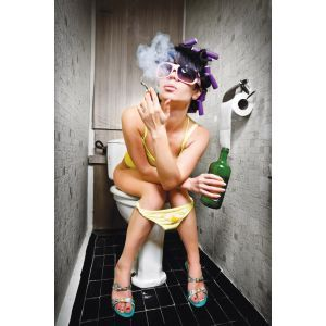 Smoking Woman Custom Made Picture Frame