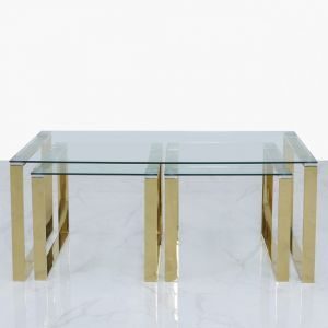 Harold Gold Coffee/Nest Of Tables Alternative