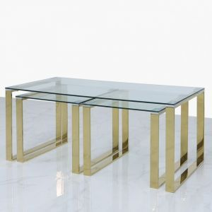 Harold Gold Coffee/Nest Of Tables