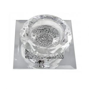 Mirrored Crushed Crystal 1 Tealight Holder (Isabel)