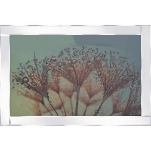 Bronze Flowers Mirrored Picture Frame