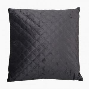 Grey Quilted Velvet Cushion