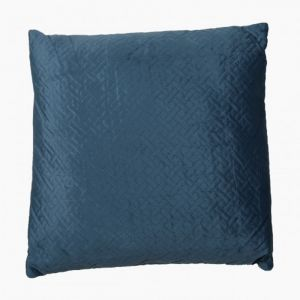 Blue Quilted Art Deco Cushion