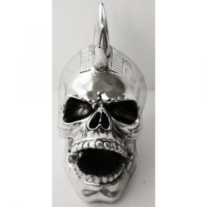 Silver Laughing Skull Ornament