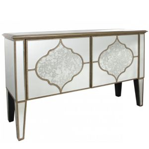 Mirrored Masira 2 Door Cabinet