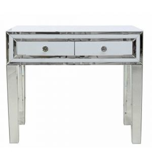 White Glass Small Dressing Table (Marco)