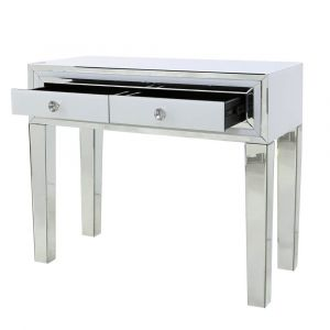 White Glass Small Dressing Table (Marco) Alternative
