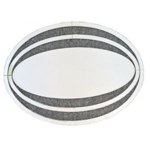 Crushed Crystal Oval Mirror (Sofia)