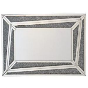 Mirrored Crushed Crystal Triangle Wall Mirror (Sofia)