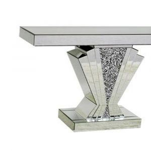 Mirrored Crushed Crystal Shell Console Table (Sofia) Alternative