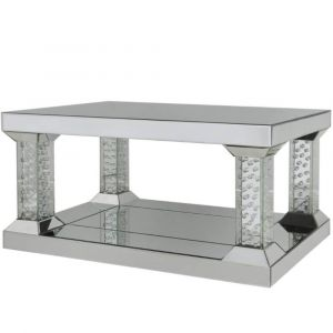 Floating Crystal 2 Tier Coffee Table