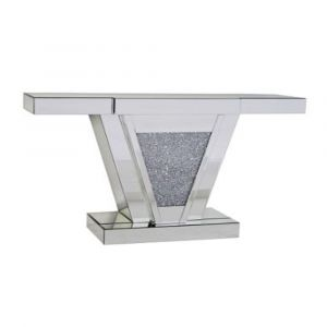 Mirrored Crushed Crystal Console Table (Sofia) Alternative