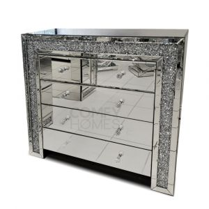 Crushed Crystal 3+2 Drawer Chest (Milano)