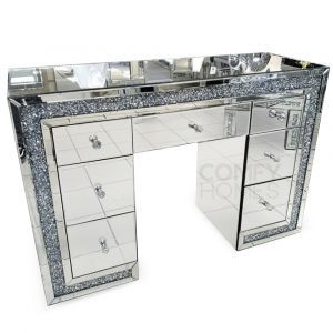 Crushed Crystal 7 Drawer Dressing Table (Milano)
