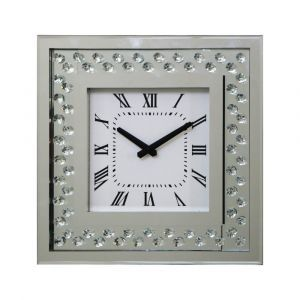 Floating Crystal Small Square Wall Clock
