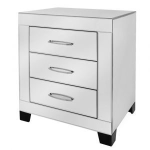 Mirrored Conor Wide Bedside