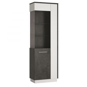 Zeal Tall Glazed Display Cabinet (Lh)