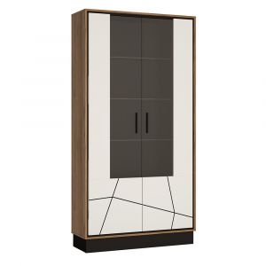 Braile Tall Wide Glazed Display Cabinet