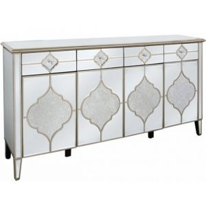 Mirrored Masira 4 Door Sideboard Alternative