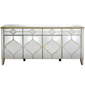 Mirrored Masira 4 Door Sideboard