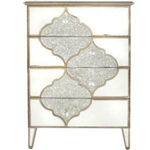 Mirrored Masira 4 Drawer Chest