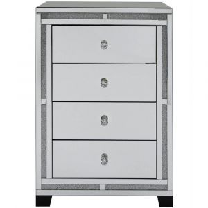 Mirrored Crushed Crystal 4 Drawer Chest (Isabel)